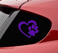 """HEART with DOG PAW Puppy Love 4"""" (color: PURPLE) Vinyl De... https://www.amazon.com/dp/B00H7HS6E6/ref=cm_sw_r_pi_dp_x_FVpRybBWWCVR0"""