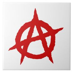 Anarchy symbol red punk music culture sign chaos p trinket trays - red gifts color style cyo diy personalize unique Evil Skull Tattoo, Punk Tattoo, Red Wall Art, Red Art, Symbol Tattoos, Hand Tattoos, Anarchy Symbol, Petit Tattoo, Dream Tattoos