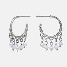 Magda Earrings - Maanesten - Lilly is Love Sunglasses Accessories, Jewerly, Opal, Gems, Earrings, Silver, Inspiration, Outfits, Clothes