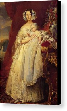"""New artwork made with love for you! - """" Helene Louise De Mecklembourg Schwerin Duchess Of Orleans With His Son Count Of Paris 1839 Canvas Print / Canvas Art by Winterhalter Franz Xaver """" - https://ift.tt/2NVvzIJ"""