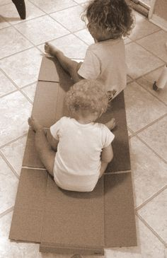 Easiest train to make ever. Is the cardboard box the best toy for imaginative play? Can you name a better one?
