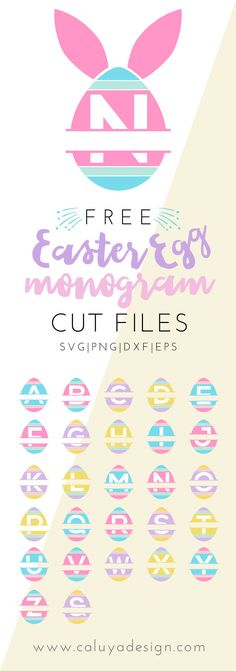 Free Easter bunny egg SVG Cut file download for Cameo Silhouette, Cricut and other major cutting machines.  DXF cut file, EPS, PNG. Bunny SVG cut file, Easter cut file, Egg SVG cut file