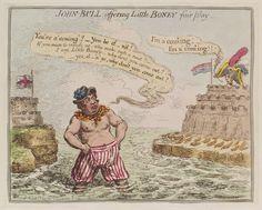 Napoleon Bonaparte ('John Bull offering little Boney fair play')  ca. 1803