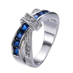 Free Crossed Sapphire Ring - Gift for September Birthday Baby!!! 20pcs Only!! #FreebieofTheWeek #Freebie #Freejewelry #Freering #Birthstonering