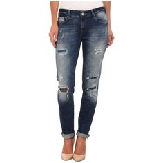 Mavi Jeans Ada in Grunge Patched Vintage Women's Jeans ($118) ❤ liked on Polyvore featuring jeans, zipper jeans, distressed jeans, distressing jeans, frayed jeans and grunge ripped jeans