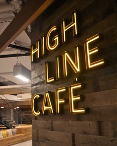 Great signage design by @gensler for this cafe