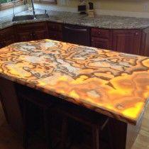 Superbe Custom Shape Backlit Onyx Island Nu World LED Light Panel