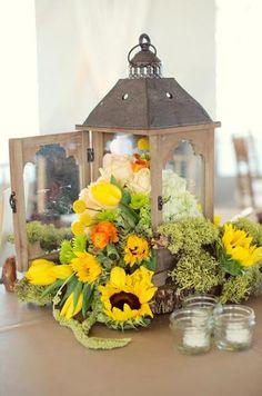 lanterns and sunflowers