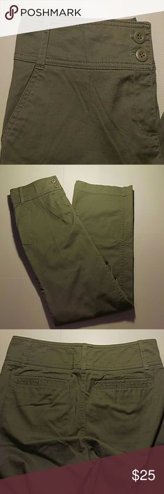 New York & Company olive green pants Women's New York & Company olive green pants size 4. Made in Vietnam New York & Company Pants
