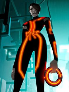 Year of the Villain: Paige from TRON: Uprising Tron Evolution, Tron Uprising, Kung Fury, Emmanuelle Chriqui, Tron Legacy, Cyberpunk Aesthetic, Dark Disney, Ready Player One, Horror Icons