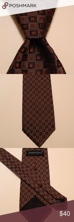 """MASSIMO BIZZOCCHI by KITON Italy Checks Brown EUC MASSIMO BIZZOCCHI by KITON Men's Silk Necktie ITALY Luxury PLAIDS & CHECKS Brown/Blue EUC  ·        Brand: Massimo Bizzocchi by Kiton ·        Style: Neck Tie ·        Color: Brown/Blue/Orange/Burgundy ·        Material: 100% Silk ·        Attachment: Tied ·        Length: Classic 59 3/8"""" ·        Width: Classic 3 5/8"""" ·        Pattern: Plaids & Checks ·        Country/Region of Manufacturer: Italy ·        Condition: Excellent Used Condition…"""