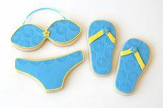 Flip flop and Bikini Cookies ... too cute!