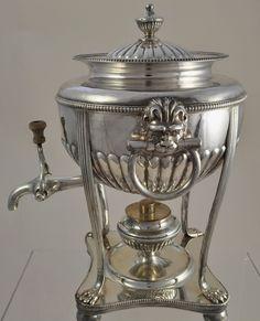 Old Sheffield Plate Lion Mask William IV Hot Water Urn with Burner 1830