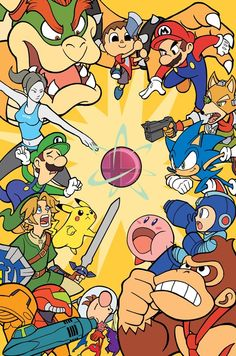Super Smash Bros for is now out worldwide! - Simply Smashing by TheSteveYurko Super Smash Bros Brawl, Nintendo Super Smash Bros, Super Mario Bros, Metroid, Legend Of Zelda, Fan Art, Creepypasta Anime, Super Smash Ultimate, Nintendo Sega