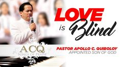 'Love Is Blind' cover by Pastor Apollo C. Praise Songs, Son Of God, The Real World, Apollo, Blinds, Sons, Channel, Spirituality, Facebook
