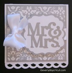 Cricut Artiste Wedding Card by Everyday Cricut! #Cricut