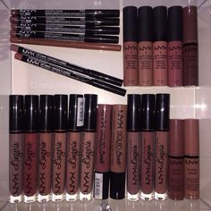 Drawer full of nyx lip products