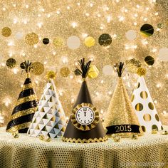 Throw a spectacular New Year's Eve soiree that will stun your guests. A little black and gold is all you need for a whole lot of fabulous. Let the countdown begin!