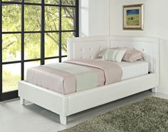 Celine Corner Beds White Uph Twin Daybed STD-90655-WTB