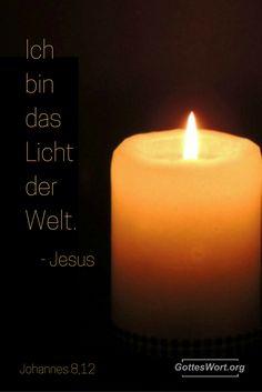 Ich bin das Licht der Welt ... Jesus Weiterlesen: http://www.gottes-wort.com/das-licht.html