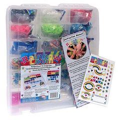 Please Like and Repin!  Official Rainbow Loom MEGA HOLIDAY GIFT SET [Deluxe Storage Case, RANDOM COLOR 9000 Ct. Rubber Band Refill Packs, Loom, Hook Tool & Mini Loo...