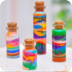 Sand painting colored sand bottled 11 colors available sand cpainying for hild colour Sand Art Bottles, Bottle Art, Bottle Crafts, Sand Art For Kids, Crafts For Kids, Sand Art Crafts, Diy Crafts, Colored Sand Art, Farbiger Sand