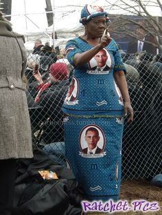 Dress made from trashcan - funny ghetto pictures, funny pictures, ratchet pictures