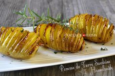 Recette suédoise pomme de terre hasselback accompagne viande ou poisson - recette express