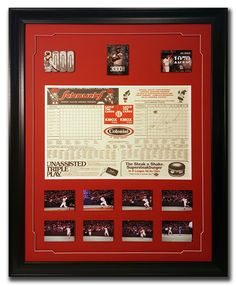 Lou Brock. St. Louis Cardinals. Autographed score card from the game of his 3000th hit.