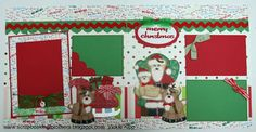 Santa and Reindeer stitched layout
