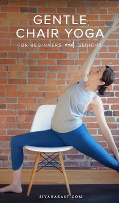 Chair yoga is a wonderful practice for every body, suitable for beginners and seniors. Yoga Flow Sequence, Yoga Sequence For Beginners, Yoga Sequences, Workout For Beginners, Yoga Fitness, Senior Fitness, Kids Fitness, Sanftes Yoga, Vinyasa Yoga