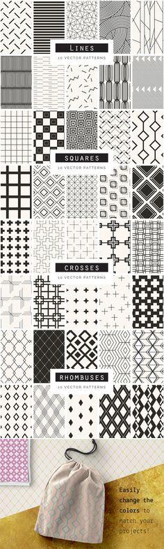 Geometric Seamless Patterns Bundle Vol. 2