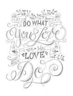 Letter Lovers sandra_graphics - Skizze für ein Lettering auf einer Leinwand: Chalk Lettering