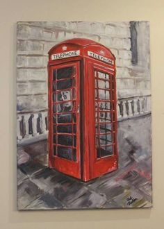 telephone booth  My web site ->https://m.facebook.com/paulinapelc.painting