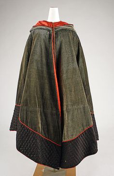 Cape  Date: 1850–60 Culture: American Medium: silk