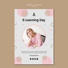 Concepto de e-learning de diseño de cart... | Free Psd #Freepik #freepsd #flyer Bamboo, Learning, Day, Poster, Free, Flyer Template, Stencil Designs, Travel Posters, Business Marketing