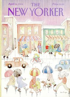 The New Yorker - Monday, April 1984 - Issue # 3087 - Vol. 60 - N° 9 - Cover by : Anne Burgess The New Yorker, New Yorker Covers, Cover Pages, Album Covers, Book Cover Art, Graphic Design Illustration, Illustration Art, Magazine Art, Magazine Covers