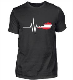 Mein Herz schlägt für Österreich - Austria Heimat Tradition Land Berge Herzschlag T-Shirt Mens Tops, Fashion, Heart Beat, Mountains, Oktoberfest, Cotton, Moda, La Mode, Fasion