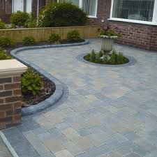 Paving Designs For Front Gardens victorian front garden design london red rubber brick wall with yellow composite pier cap and mosaic Find This Pin And More On Great Drive Ideas