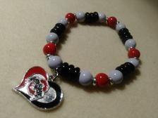 Ohio State Bracelets w/ charm   Etsy Stretch Bracelets, Beaded Bracelets, Football Bracelet, Handmade Items, Handmade Gifts, Hippie Boho, Charmed, Buckeyes, Trending Outfits