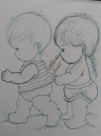 ideas baby art for grandma pictures Pencil Art Drawings, Cool Art Drawings, Art Sketches, Baby Clip Art, Baby Art, Baby Drawing, Drawing For Kids, Ganesha Drawing, Elephant Coloring Page