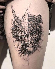 Dragon Tiger Tattoo dragon tattoo tattoo tattoo designs tattoo for men tattoo for women tattoo tattoo tattoo tattoo tattoo tattoo tattoo tattoo ideas big dragon tattoo tattoo ideas Hand Tattoos, Forearm Tattoos, Body Art Tattoos, Tattoo Drawings, Tatoos, Tattoo Ink, Trendy Tattoos, Black Tattoos, Tattoos For Guys