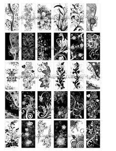 Digital collage sheet domino tile download art by graphicland, $2.99