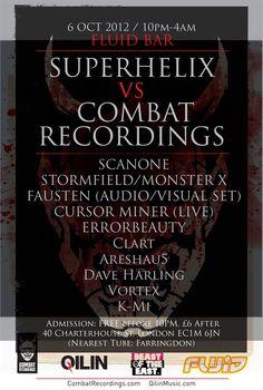 Superhelix VS Combat Recordings at Fluid