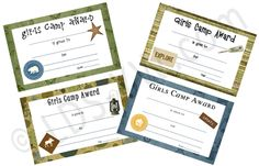 Girls Camp awards AND tons of other great YW ideas