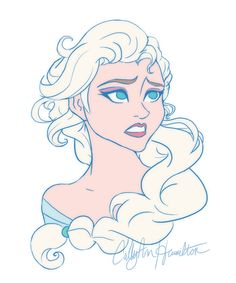 Elsa by CallyAnn Hamilton - Frozen Arendelle Frozen, Elsa Frozen, Disney Frozen, Disney Fan Art, Disney Love, Disney Magic, Disney Films, Disney Characters, Disney Princesses