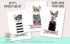 Birthday card Happy Birthday card cute by StudioInBudapest on Etsy