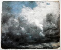 monochromatic blue sky by John Constable