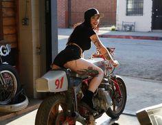 Garage Girl #garagegirls #caferacer
