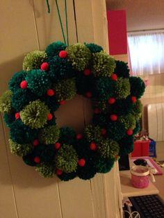 Guirnalda de Navidad Pom Pom por KellysCrafts56 en Etsy